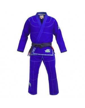 кимоно для Джиу Джитсу Fuji Suparaito BJJ Gi, Blue with Green