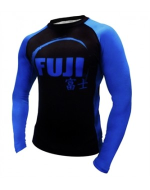 Рашгард Fuji Sports IBJJF Ranked Rash Guard Blue Long Sleeve