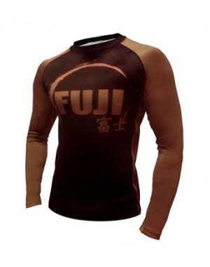 Рашгард Fuji Sports IBJJF Ranked Rash Guard Brown Long Sleeve
