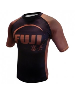 Рашгард Fuji Sports IBJJF Ranked Rash Guard Brown Short Sleeve