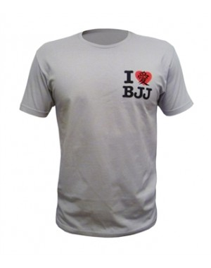 футболка Fuji Sports I Love BJJ T-Shirt Grey