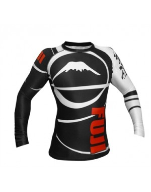 рашгард Fuji Sports Freestyle IBJJF Ranked Rashguard Black Long Sleeve #4478