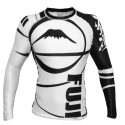 FUJI Sports Freestyle IBJJF Ranked Rashguard White Long Sleeve #4471
