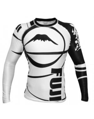 рашгард FUJI Sports Freestyle IBJJF Ranked Rashguard White Long Sleeve #4471