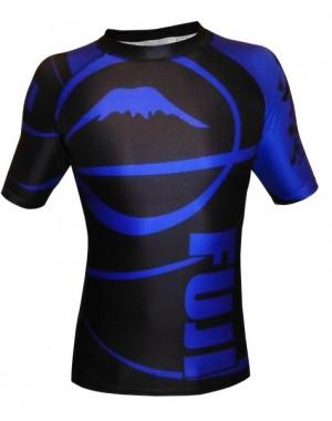 Рашгард Fuji Sports Freestyle IBJJF Ranked Rashguard Blue Short Sleeve #4473