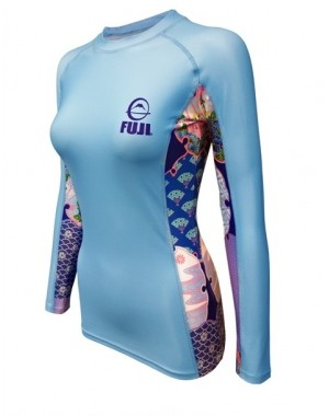 женский рашгард Fuji Sports Women's Kimono Rash Guard Blue