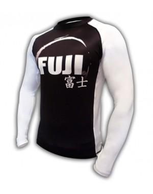рашгард Fuji Sports IBJJF Ranked Rash Guard White Long Sleeve