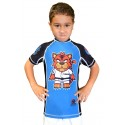 детский рашгард  FUJI Sports Toshi the Tiger Rash Guard, Kids, Blue/Black, 4425