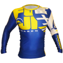 FUJI Sports Urban Rashguard, Blue/Yellow, #4459