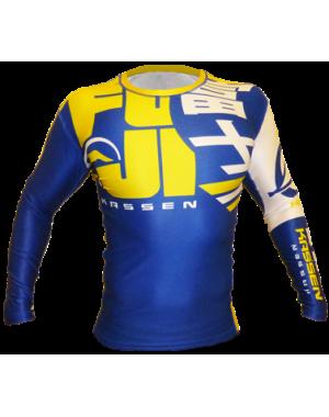 рашгард FUJI Sports Urban Rashguard, Blue/Yellow