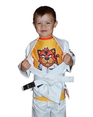 рашгард для детей FUJI Sports Toshi the Tiger Rash Guard, Kids, Yellow/Orange