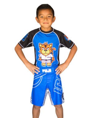 детские шорты для джиу джитсу и ММА FUJI Inverted Kid's Board Shorts, Blue, #2030Y