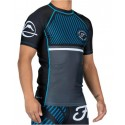 Fuji Sports Script Short Sleeve Rashguard Blue