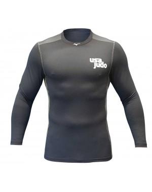 Компрессионная кофта mizuno USA Judo Long Sleeve Elite Stretch Sleeve