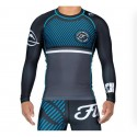 Fuji Sports Script Long Sleeve Rashguard Blue