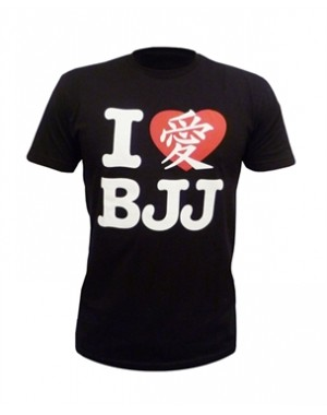 футболка Fuji Sports I Love BJJ T-Shirt Black