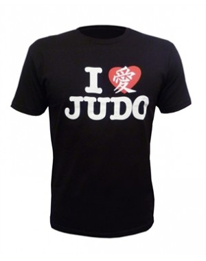 футболка Fuji Sports I Love Judo T-Shirt Black